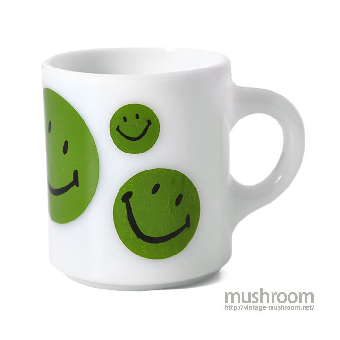 OLD HAPPY-SMILE PRINT MUG CUP