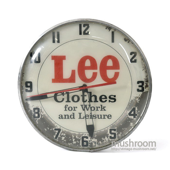 Lee ADVERTISING SIGN WALL CLOCK