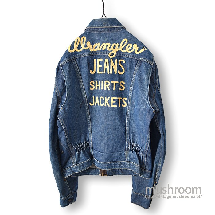 WRANGLER 11MJZ  DENIM JACKET WITH EMBROIDERY