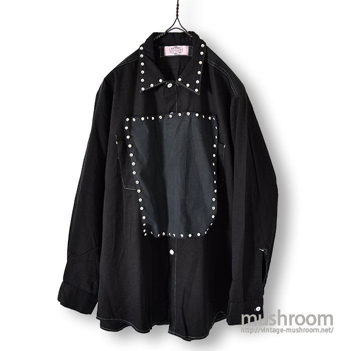 OLD BLACK SHIRT WITH SILVER STUDS