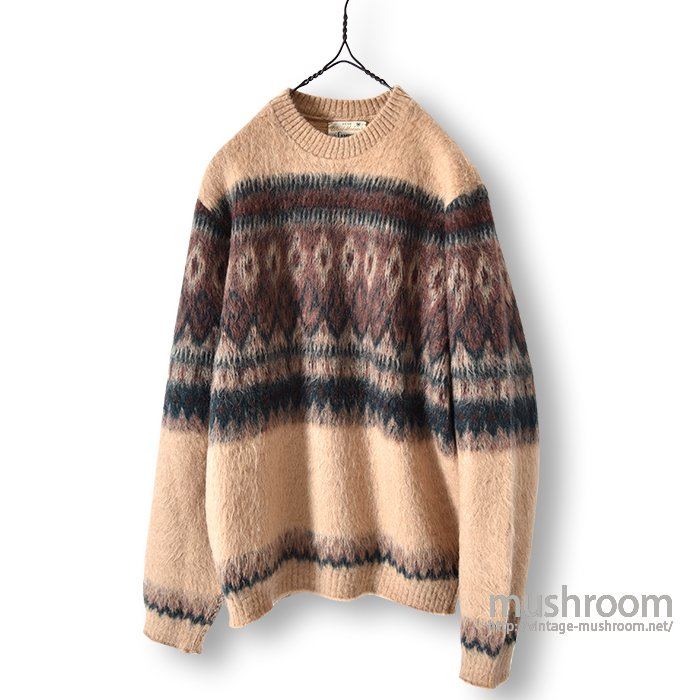 CAMPUS CREW-NECK MOHAIR SWEATER