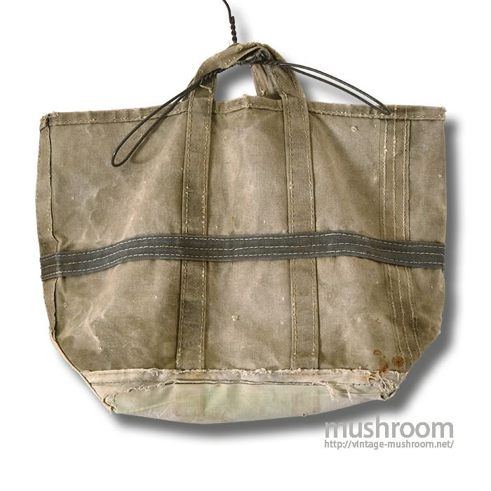 OLD CANVAS COAL BAG( UNUSUAL MAKING )