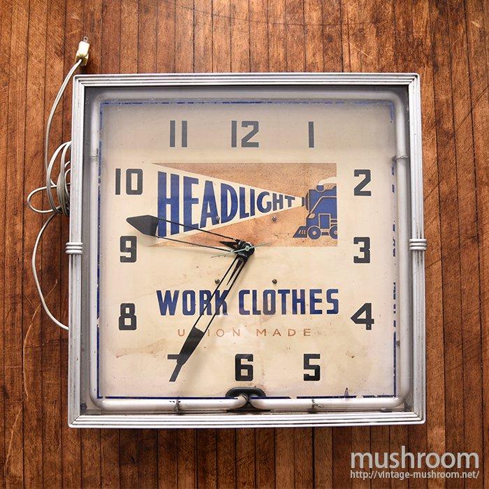 HEAD LIGHT ADVERTISING SIGN WALL CLOCK