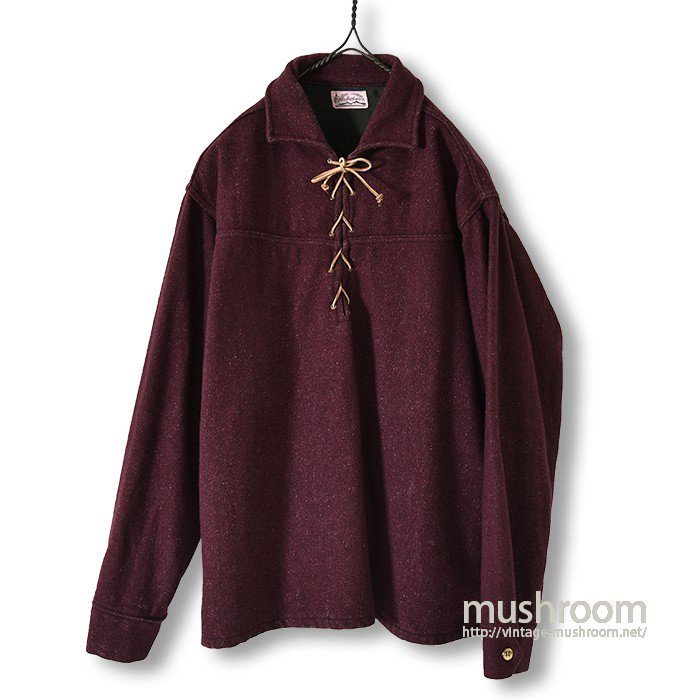 OLD RACE-UP WOOL SHIRT