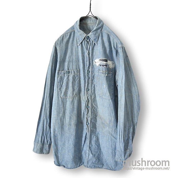 U.S.NAVY CHAMBRAY SHIRT WITH STENCIL