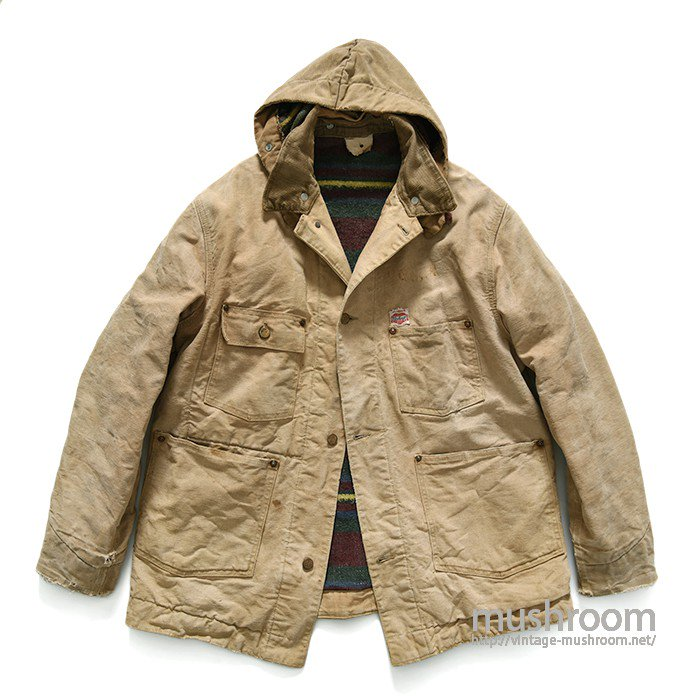 CARHARTT BROWN DUCK COVERALL WITH HOODY