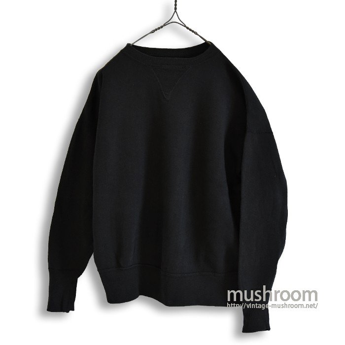 OLD S/V PLAIN SWEAT SHIRT(BLACK DYEING)