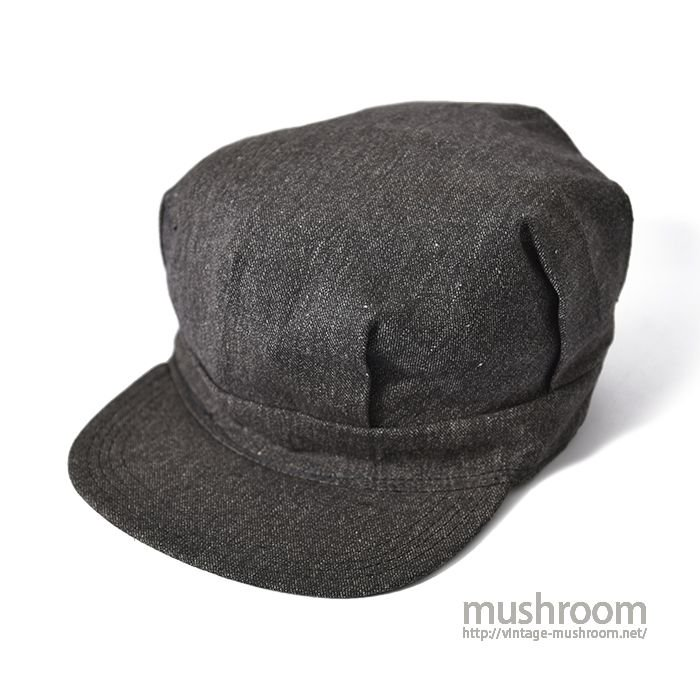 OLD BLACK CHAMBRAY WORK CAP( DEADSTOCK )