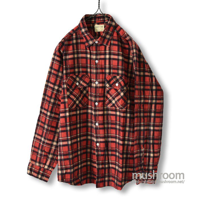 SWEET-ORR PLAID PRINT COTTON FLANNEL SHIRT
