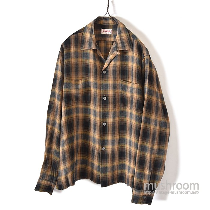 MCGREGOR SHADOW PLAID RAYON SHIRT
