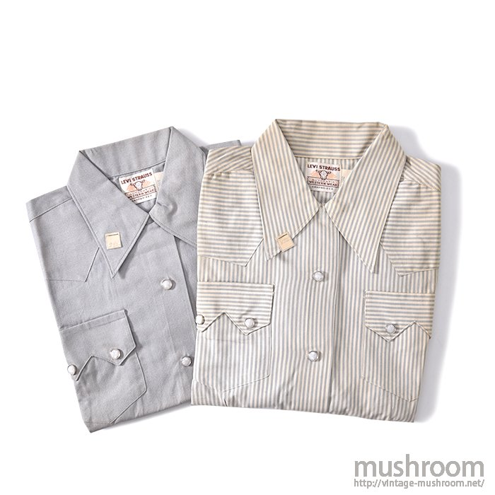 LEVI'S SHORTHORN WESTERN SHIRT(2SET/DEADSTOCK)