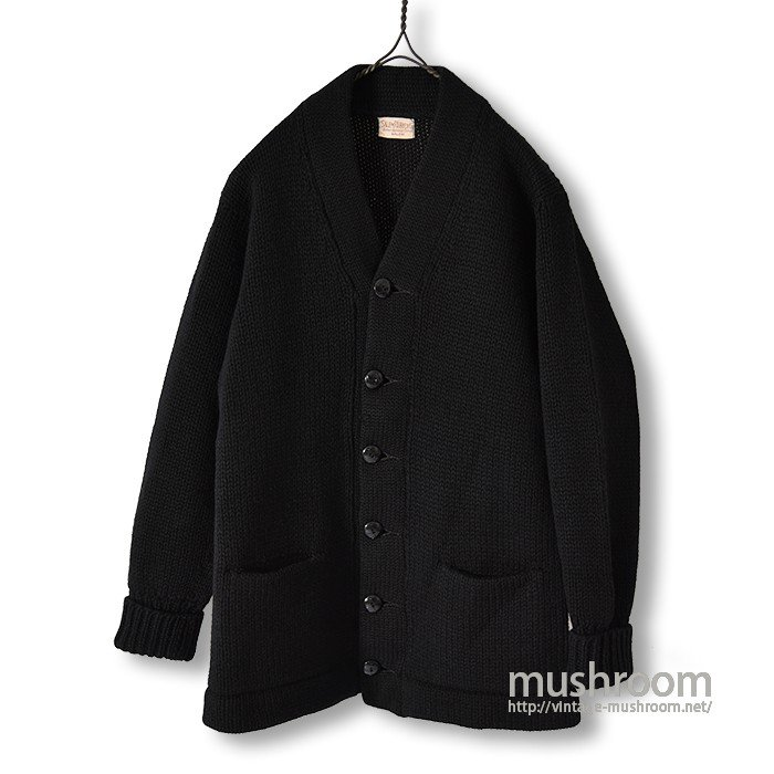 SALEM RUBBER CO BLACK KNIT CARDIGAN(MINT)