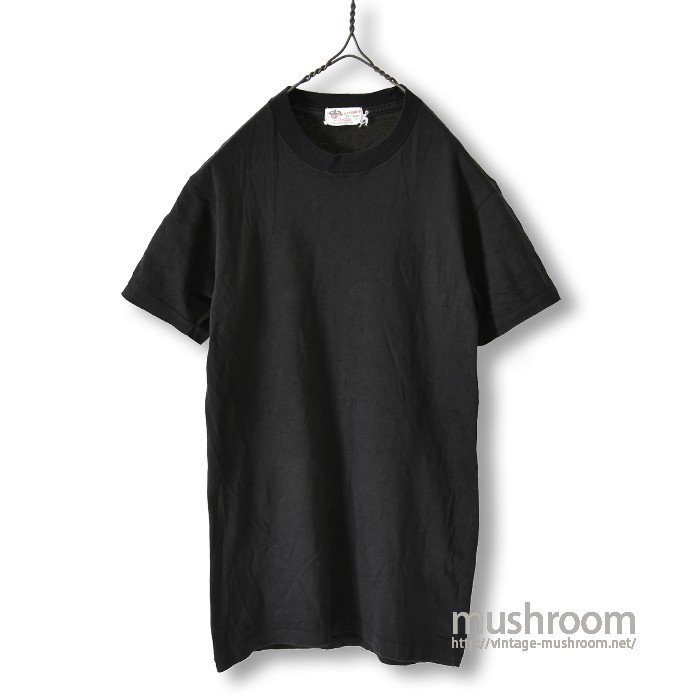 CAMPUS BLACK PLAIN T-SHIRT