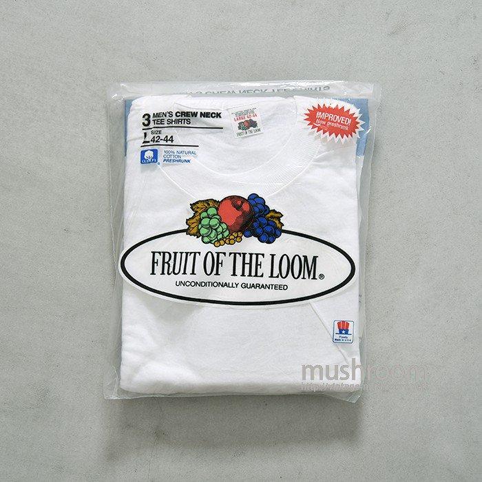 FRUIT OF THE LOOM PLAIN 3PACK T-SHIRT(L/DEADSTOCK )
