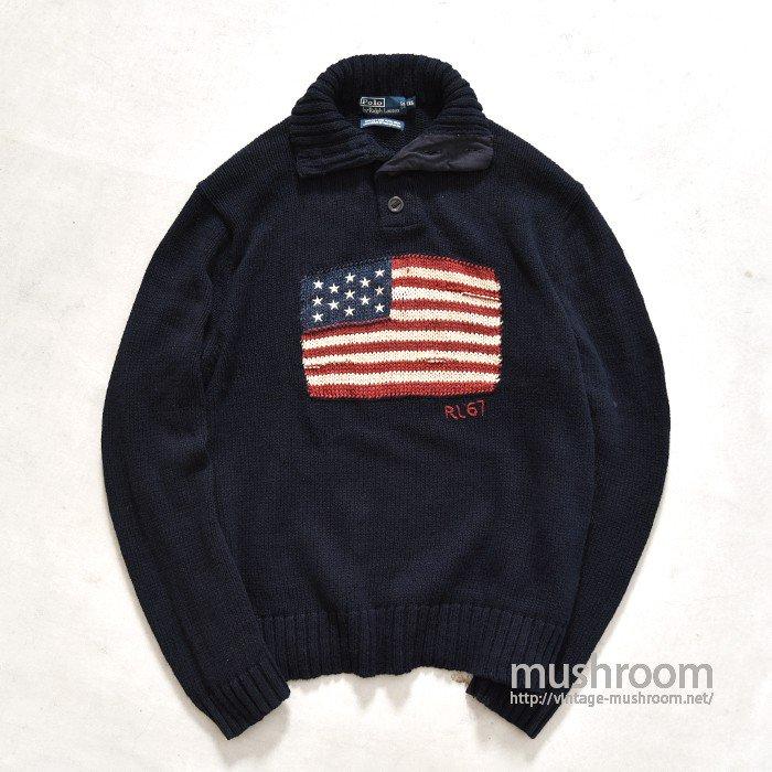 RALPH LAUREN AMERICAN-FLAG SWEATER