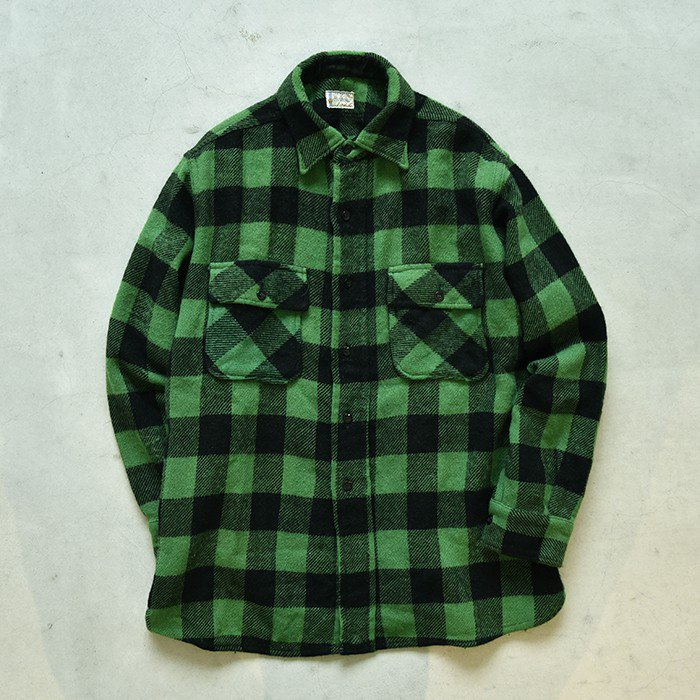 TOWNCRAFT PLAID WOOL L/S SHIRT