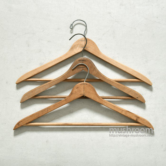 VINTAGE WOOD HANGER(3SET)