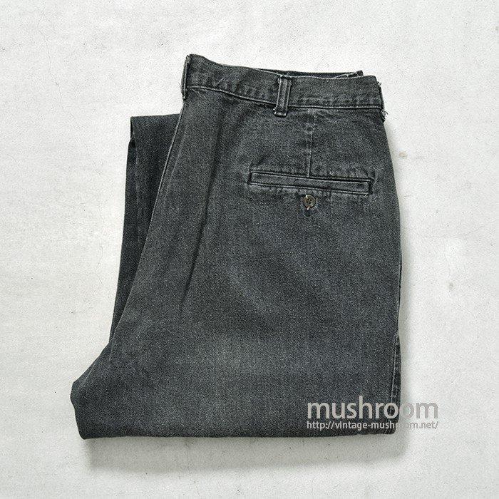 POLO COUNTRY BLACK BAGGY DENIM PANTS(W36L32)