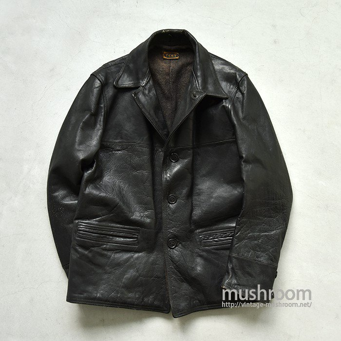 TEST SINGLE BREASTED HORSE HIDE CAR COAT