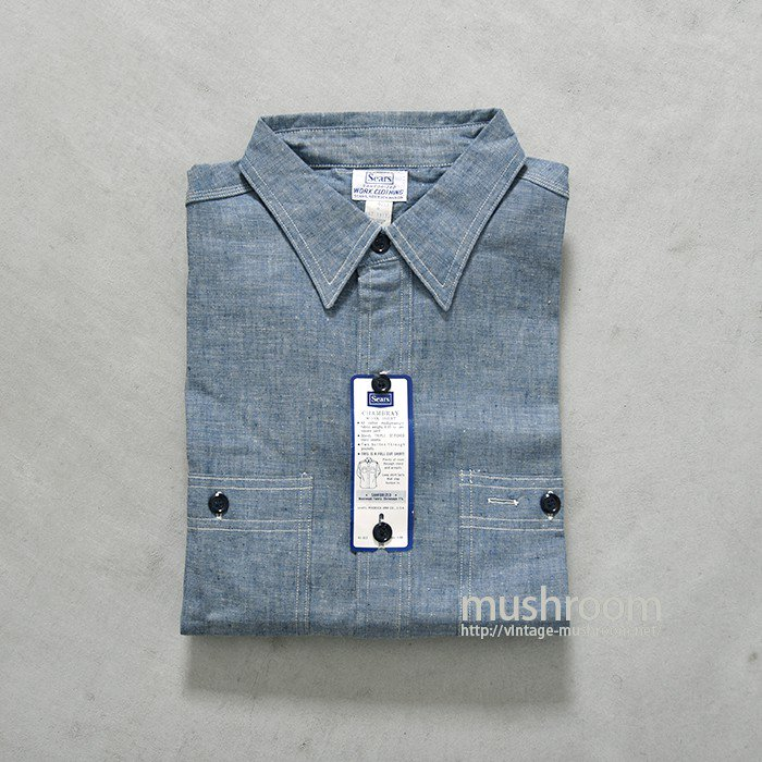 SEARS CHAMBRAY WORK SHIRT( 16H/DEADSTOCK )