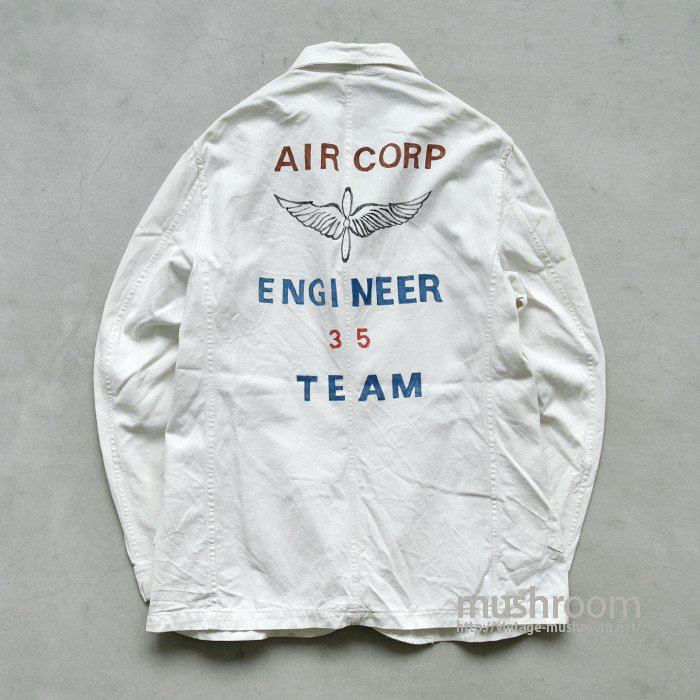 USAAF WHITE CANVAS ENGIEER JACKET