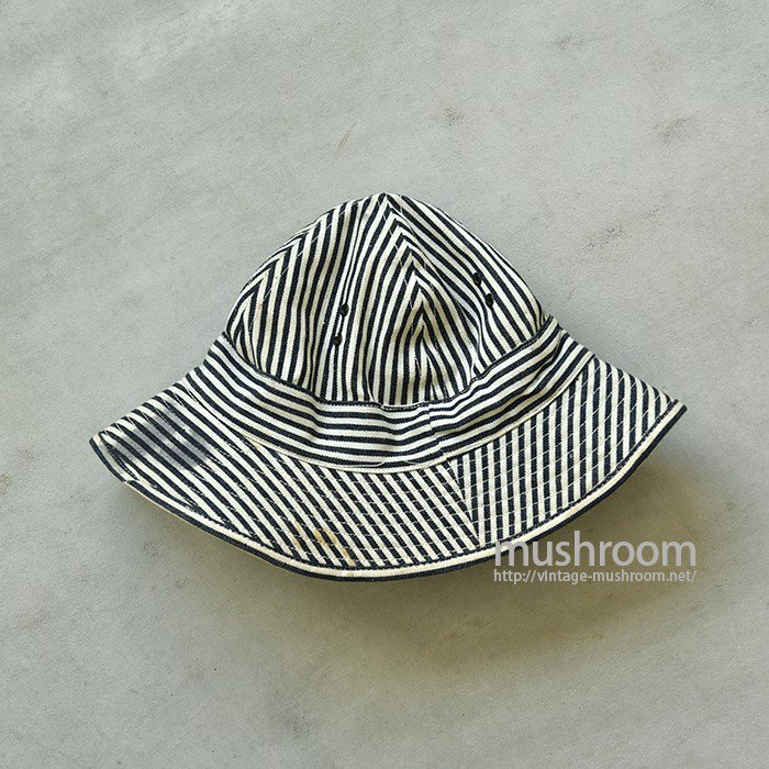 U.S.MILITARY PW STRIPE HAT( 7 /DEADSTOCK )