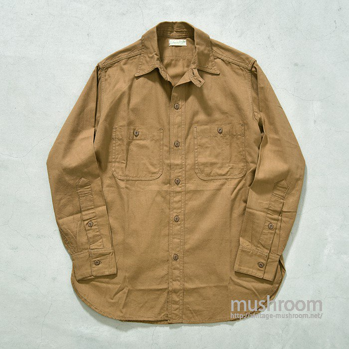 OLD POPLIN WORK SHIRT WITH CHINSTRAP