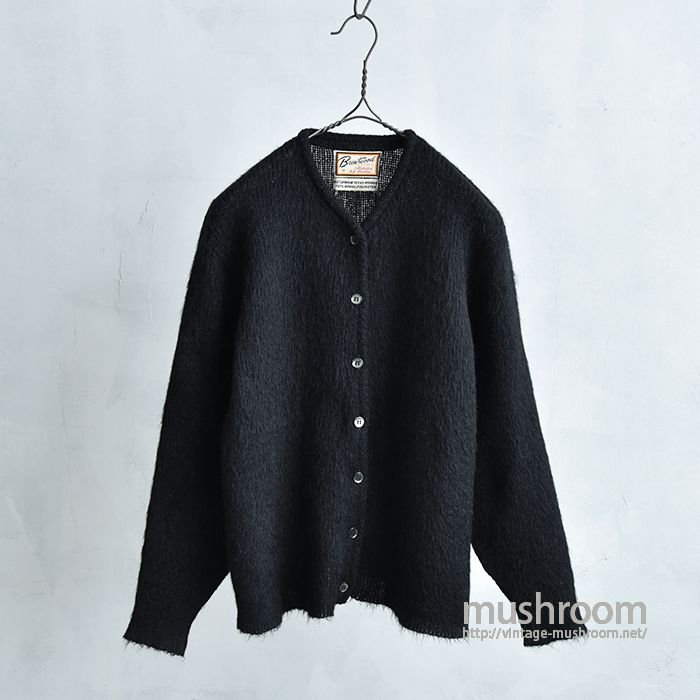 BRENTWOOD BLACK MOHAIR CARDIGAN(38)