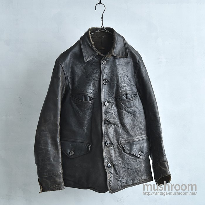 OLD FOUR POCKET SINGLE BREASTED HORSEHIDE CAR COAT
