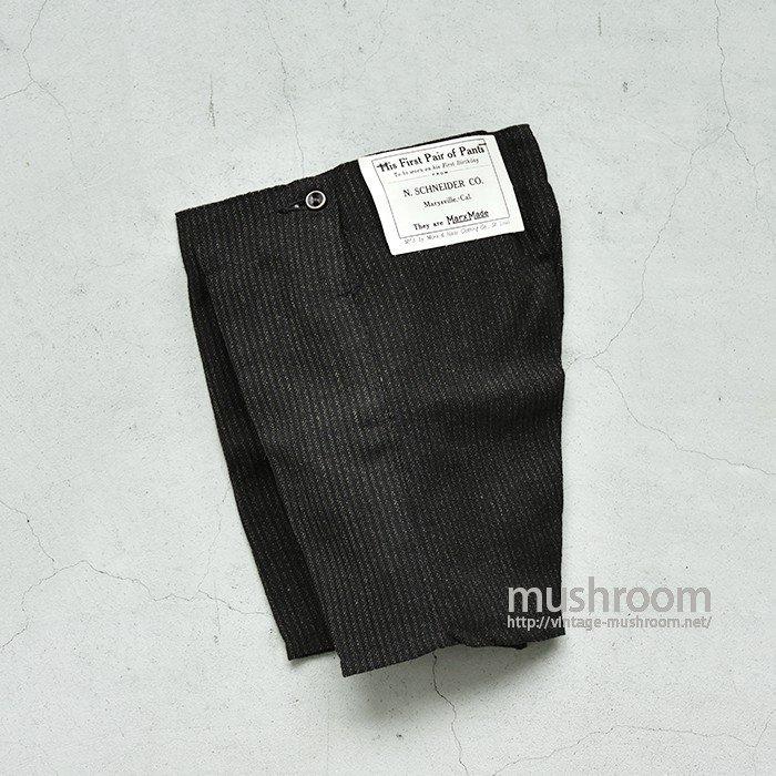 OLD STRIPE WOOL BIRTHDAY PANTS( DEADSTOCK )