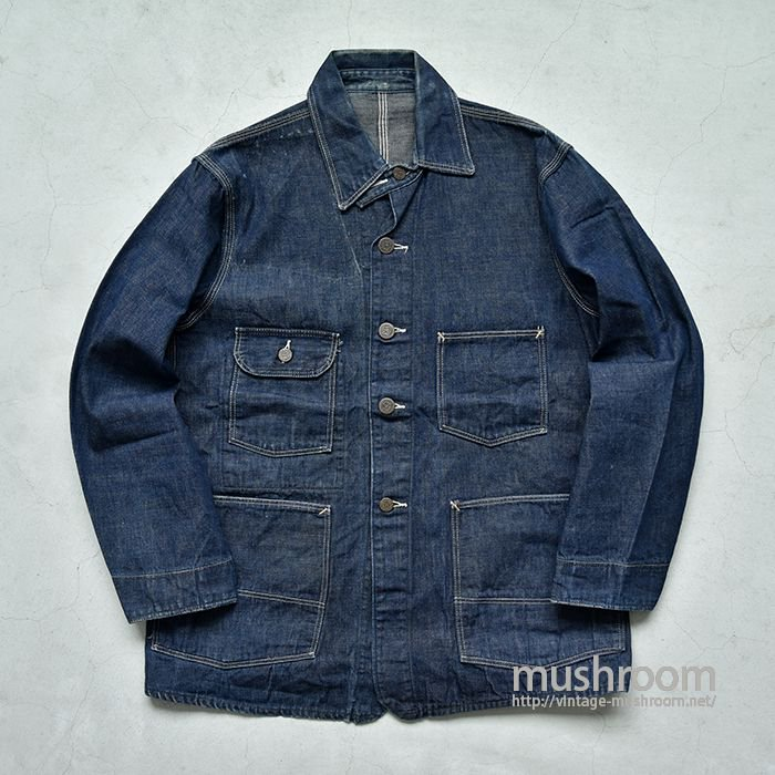 STRONG RELIABLE DENIM COVERALL WITH CHINSTRAP