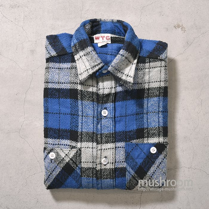 WTG PLAID FLANNEL SHIRT(ALMOST DEADSTOCK)