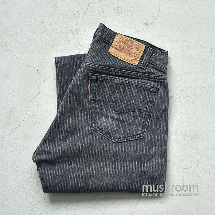 LEVI'S PIN-STRIPED BLACK JEANS