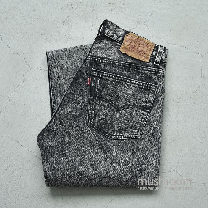 LEVI'S 501 CHEMICAL-WASHED BLACK JEANS(W31L32)