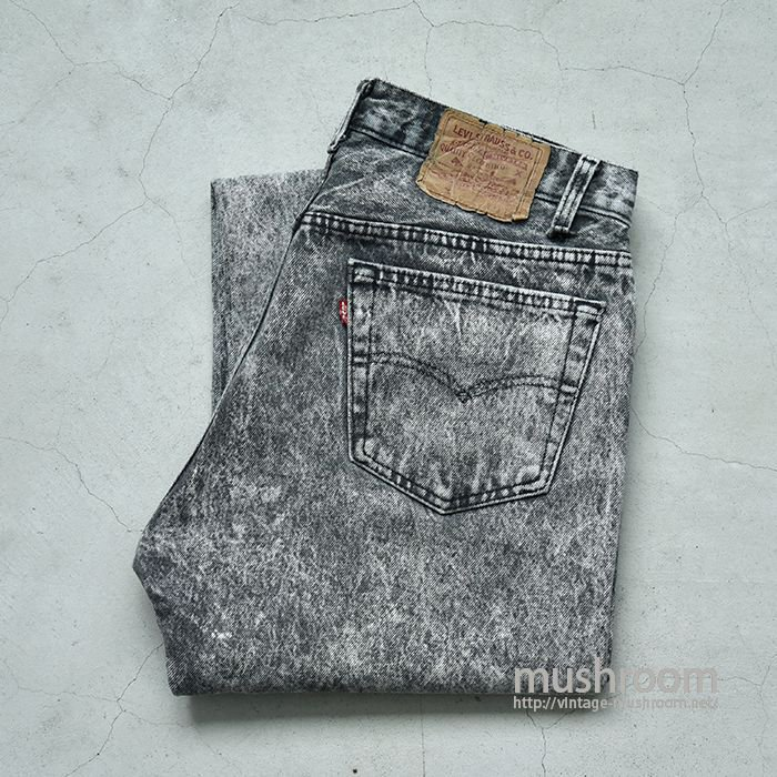 LEVI'S 501 CHEMICAL-WASHED BLACK JEANS(W33L32)