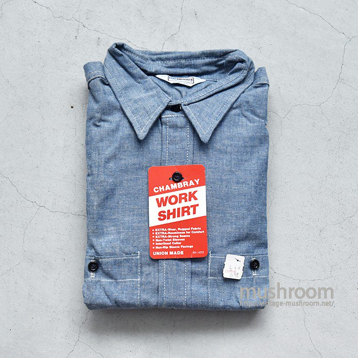 FIVEBROTHER CHAMBRAY WORK SHIRT( L/DEADSTOCK )