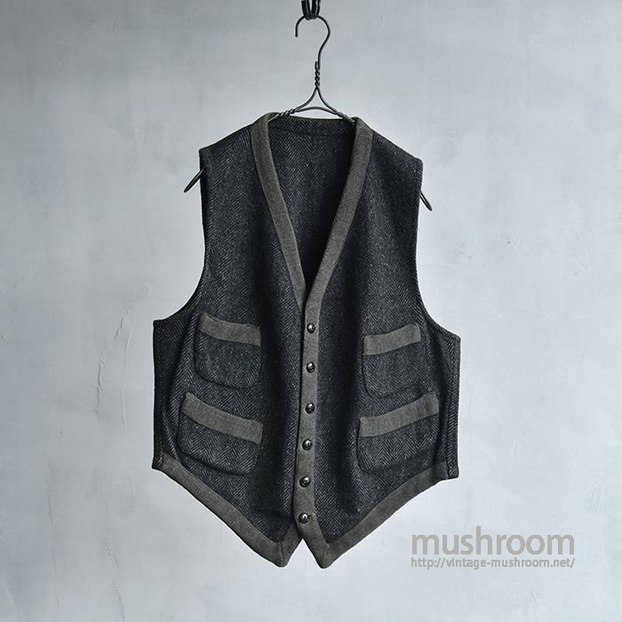 OLD FOUR POCKETS WOOL VEST(ALMOST DEADSTOCK)