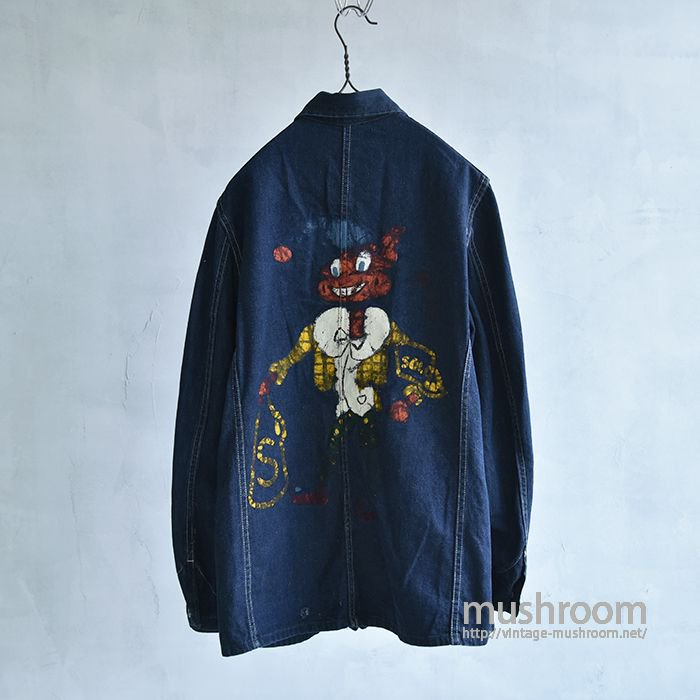 WW2 DENIM COVERALL WITH HAND-PAINTED