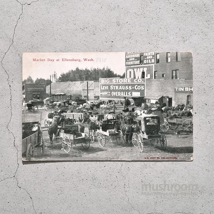 1910's OLD POST CARD(LEVI'S ADVERTISING SIGN)