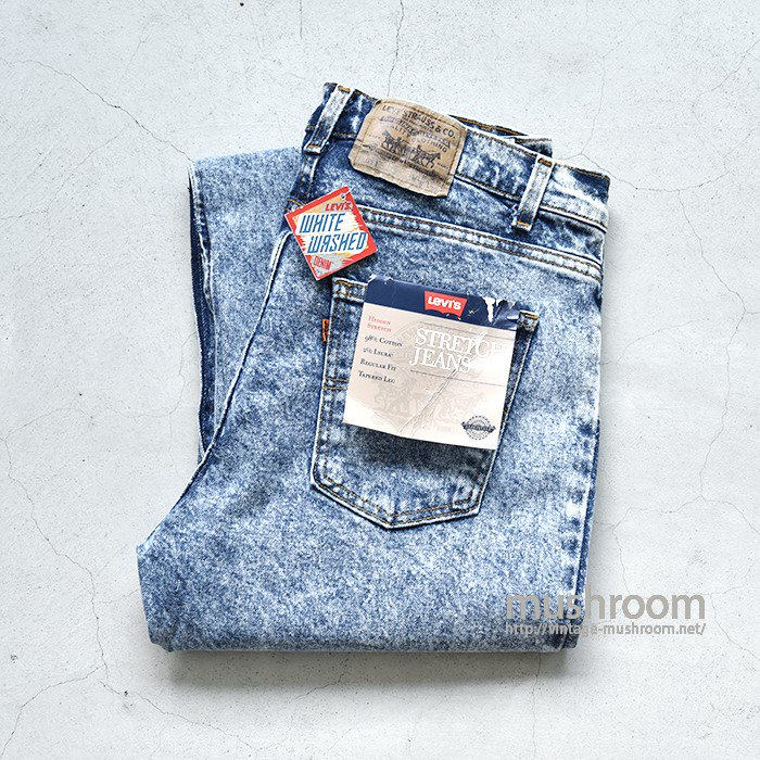 LEVI'S 511 CHEMICAL-WASHED BLUE JEANS(W36L30)