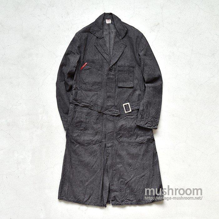 FINCK'S BLACK CHAMBRAY SHOP COAT(38/MINT)