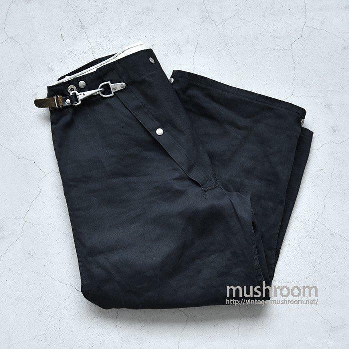 FYREPEL PRODUCTS BLACK CANVAS FIREMAN'S PANTS