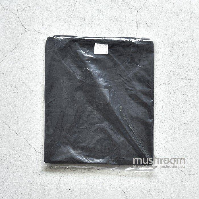 OLD BLACK PLAIN COTTON T-SHIRT( M/DEADSTOCK )