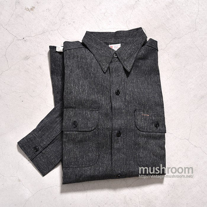 5BROTHER BLACK CHAMBRAY WORK SHIRT( 15H/DEADSTOCK )