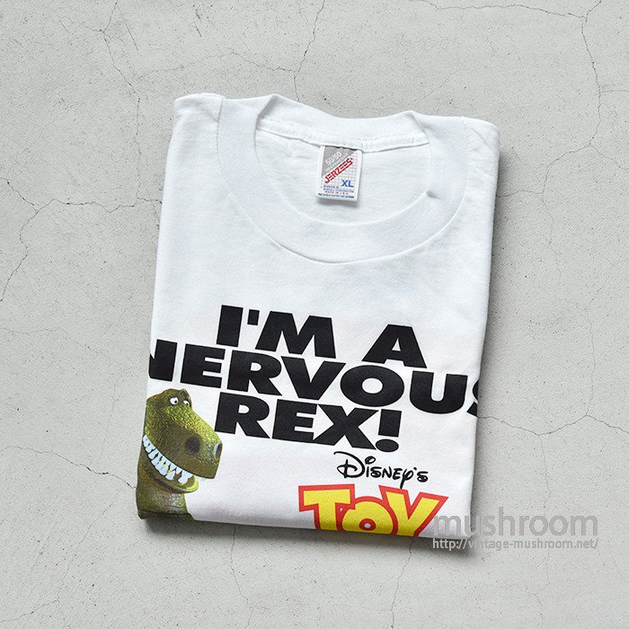 TOY STORY PROMO NERVOUS REX TEE(XL/DEADSTOCK)