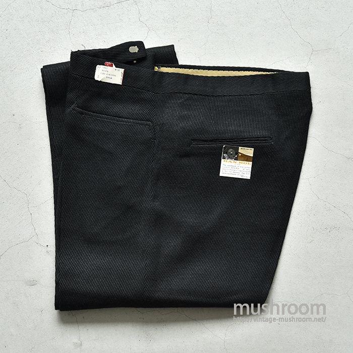 OLD BLACK RAYON SLACKS(DEADSTOCK/W36)