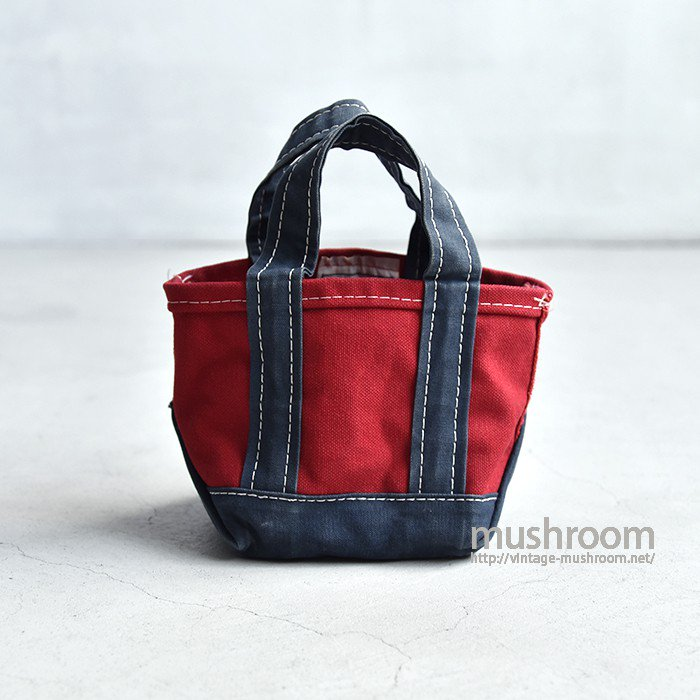 L.L.BEAN DELUXE TOTE BAG(RED×NAVY/EXTRA SMALL)