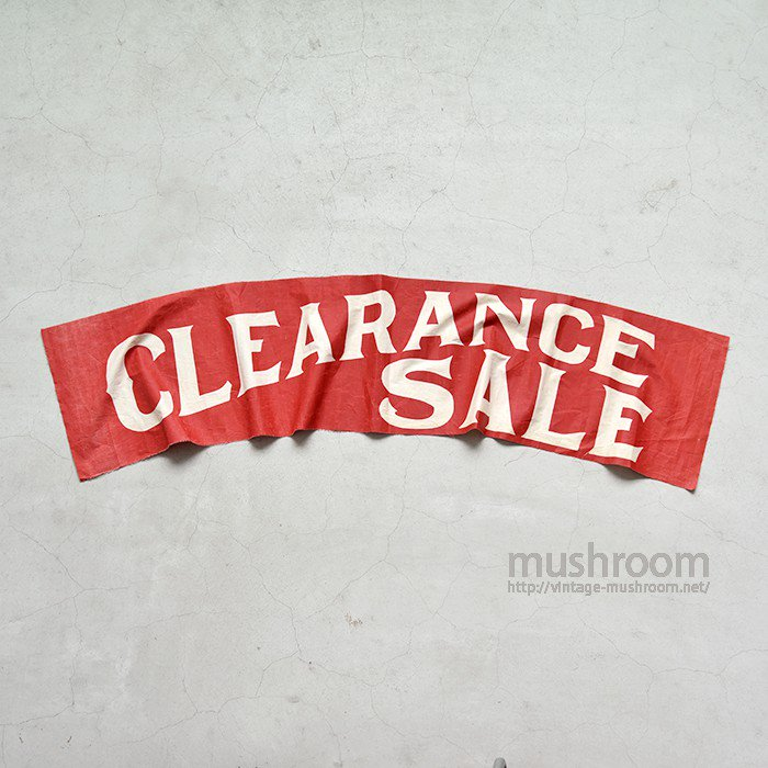 1910's-20's CLEARANCE SALE BANNER
