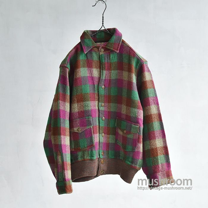 OLD A-1 STYLE PLAID WOOL JACKET(MNT CONDITION)