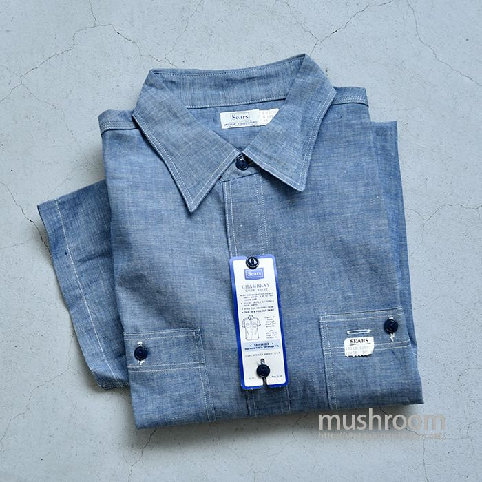 SEARS CHAMBRAY S/S WORK SHIRT( 16H/DEADSTOCK )